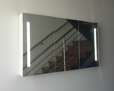 Bathroom LED Mirror Shaving Cabinet with Touch Senser 1200X700, Pencil Edge