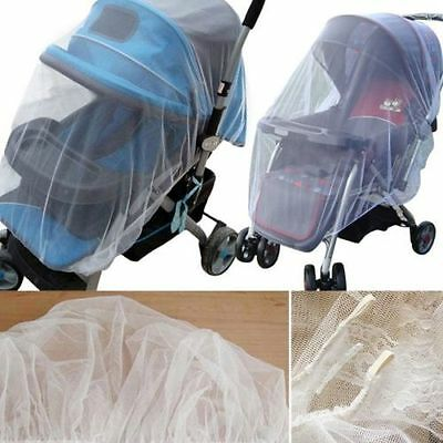 1X Whtie Stroller Pushchair Mosquito Insect Net Mesh Buggy Cover for Baby Infant