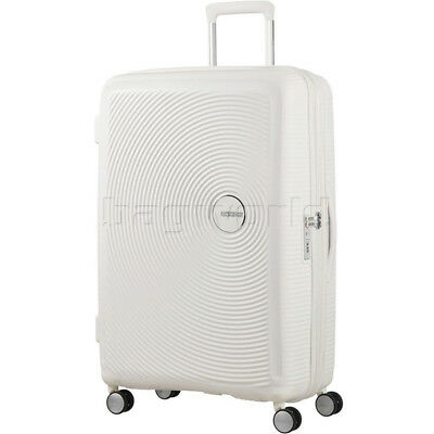 American Tourister Curio Large 80cm Expandable Hardside Suitcase White 86230