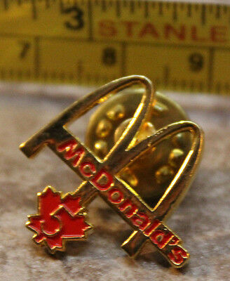 McDonalds Five Year Canada Arches Service Award Collectible Pinback Pin Button