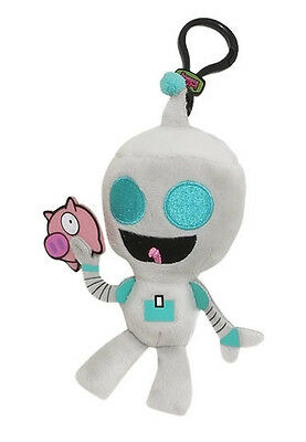 "INVADER ZIM Original Minis Plush Clip-Ons GIR WITH PIG 4"" Blind Box Keychain"