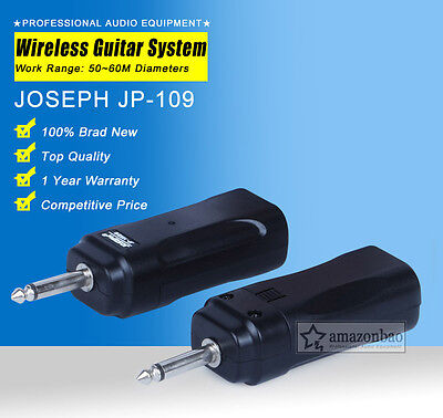 Wireless Audio Digtal Electric Guitar Bass Transmitter Receiver System Kit Stage