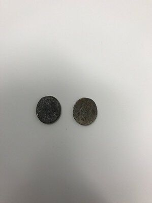 2 Antique Coins Unknown of  origin