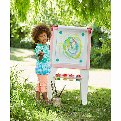 New ELC Boys and Girls Double Sided Wooden Easel - Pink Toy From 3 years