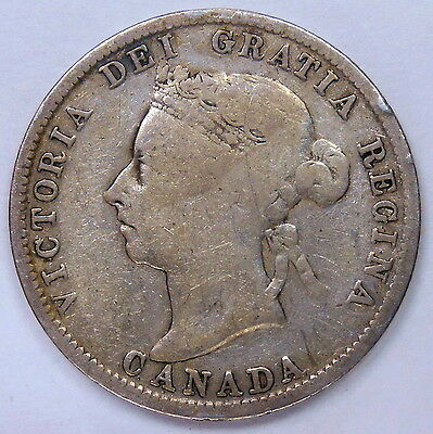 1899 Twenty-Five Cents VG+ ** Very NICE Late Queen Victoria OLD Canada Quarter