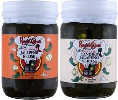 2 PACK RAGIN CAJUN JALAPENO RELISH CANDIED SLICES SPICY SWEET 24 OUNCES peppers