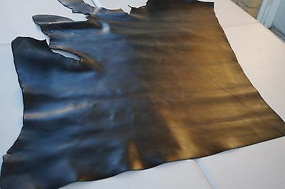 Black cowhide piece/remnant 93 x 66 cm Full grain leather CLEARANCE