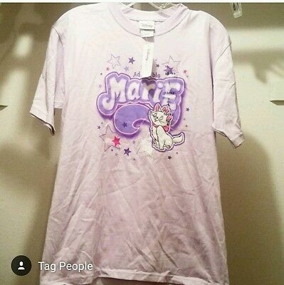 NWT! Disney Aristocrats Large Adorable Marie Short Sleeved Shirt Pink New