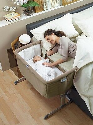 Culla Next2Me Chicco Regolabile Co-Sleeping Si Attacca Al Letto Beige Dove Grey