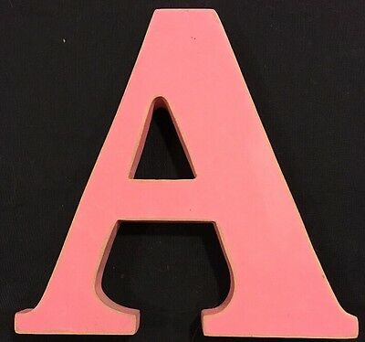 """Decorative Pink 6in. Wall Letter """"A"""""""