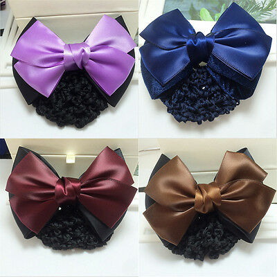 Women's Hairnet net Hair Clips Colorful Bow tie Lady Girls Daily Hair Accessory