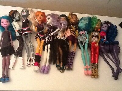 bulk of monster high dolls and accessories