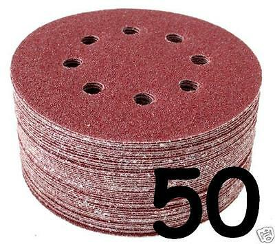 "50 - 5"" Sanding Disc Velcro 40 60 80 100 120 180 240 320 400 800 Mixed Grit"