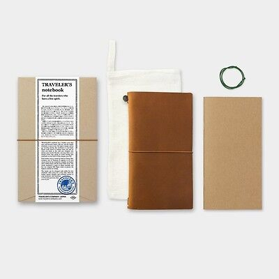 Midori Traveler's Notebook Leather Cover Camel New Color Regular size from Japan