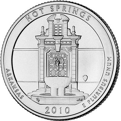 D 2010 UNITED STATES HOT SPRINGS AMERICA BEAUTIFUL QUARTER NATIONAL PARKS No Tax