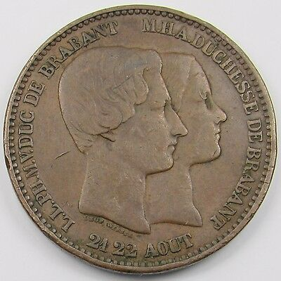 BELGIUM - LEOPOLD I 10 CENTIMES MEDALLIC ISSUE  dated 1853