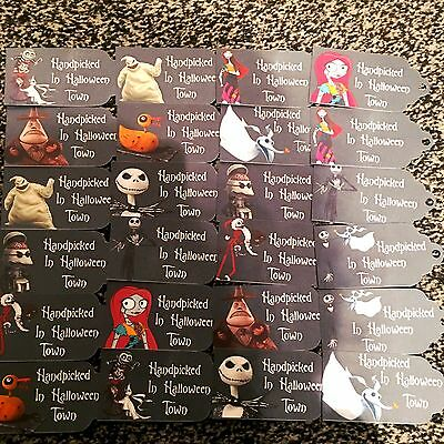 Nightmare Before Christmas Party Bag Tags/gift Tags - Set Of 24 + Twine