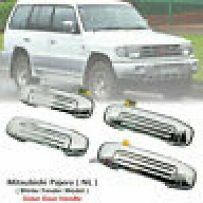 1 Set of Front Rear Exterior Chrome Door Handle For Mitsubishi Pajero NL 1997-99