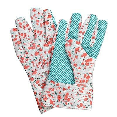 NEW pair of Ladies Women Floral Garden Gloves General Working Rubber Easy Grip