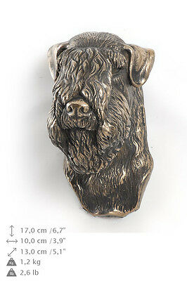 Wheaten Terrier Soft Coated statuette to hang on the wall, Art Dog , CA