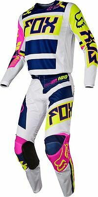 Motocross,enduro,completo Fox 180 Race Falcon Navy/white 2017