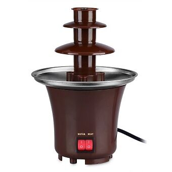 MINI CHOCOLATE FOUNTAIN BROWN BD-017 NEW and UNUSED