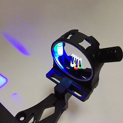 1pc 3 Pin Compound Bow Sight Fiber Optic 0.029''+LED Light for Hunting Archery