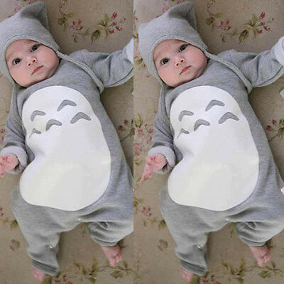 Cute Newborn Kids Baby Boy Girls Infant Romper Bodysuit Jumpsuit Clothes Outfit