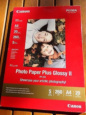 Canon PP201 A4 Photo Paper Plus Glossy II 20xSheets 260GSM