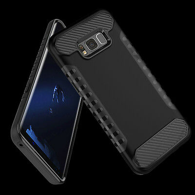Samsung Galaxy S8 Plus/S8 Slim Carbon Fiber Shockproof Hybrid Armor Case Cover