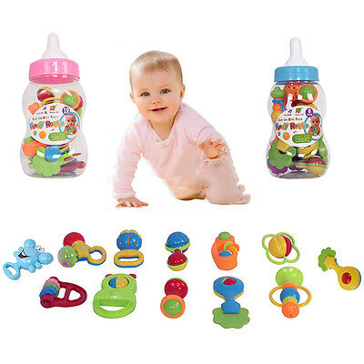 New Multi-color Baby Jingle Toys Hand Rattle Set Infant Kids Shaking Bundle Gift
