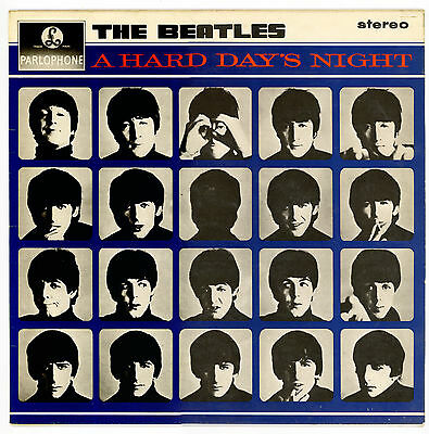 The BEATLES : A HARD DAY'S NIGHT - LP UK re-release 1976                       S