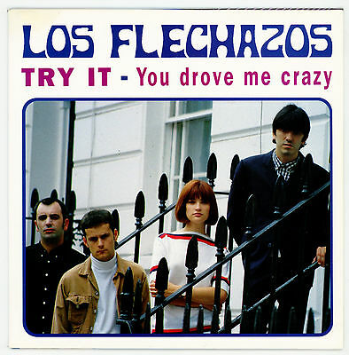"""mod/beat from SPAIN : LOS FLECHAZOS : Try It - 7"""" UK 1994 - STANDELLS cover !"""