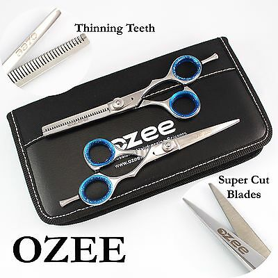 Professional Hairdressing Barber Hair Cutting Thinning Scissors Shears Set 5.5""