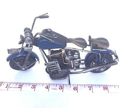 MODEL MOTORCYCLE VINTAGE IRON STEEL CLASSIC HANDMADE CHOPPER BIKE Old collecttoy