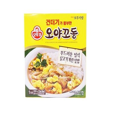 Ottogi 3min Cooked Rice And Japanese Sauce With Chicken And Egg 340g 5set / Inst