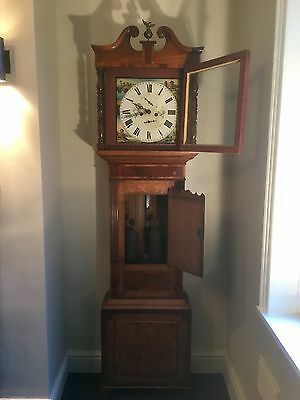 Old Antique Vintage Grandfather Clock - 8 Day / T. & E. Rodes Kendal