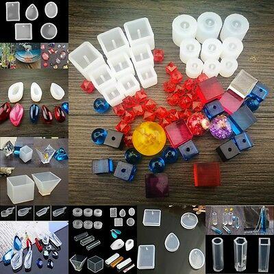 20 Patterns Silicone Mold Mould For DIY Resin Pendant Jewelry Making Craft Tool