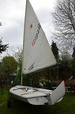Laser Sailing Dinghy (121946) including launch trolley & road trailer