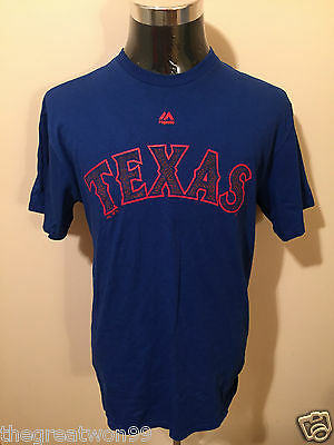 MLB Texas Rangers Baseball LGE Printed Cotton Tee by Majestic