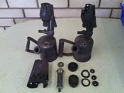Lanz Bulldog vintage tractor starting lamp blow torch assorted parts.