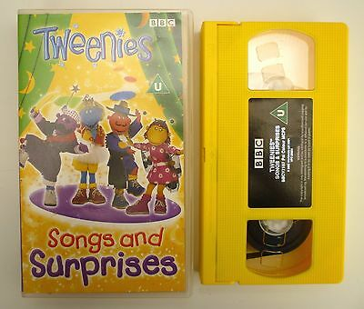 THE TWEENIES - SONGS AND SURPRISES Video (VHS, 2001) BBC CBeebies