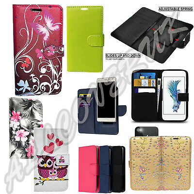 """Universal Wallet Card Slot Leather Stand Case Cover 4.0-5.0"""" Inch Huawei Phones"""