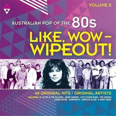 AUSTRALIAN POP OF THE 80s VOLUME 5 LIKE WOW WIPEOUT VARIOUS ARTISTS 2 CD NEW