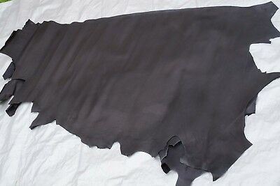 Black Cowhide Sides Chrome Tanned 1.7 -2.1 sq m CLEARANCE