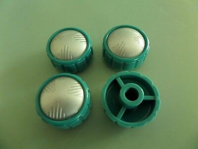 Radio knobs new series Hmv Green with silver sets - june / july sale