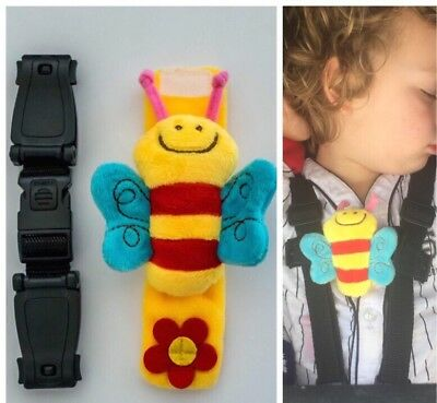 Baby Toddler Safety Seat Strap Buggy Clip BEE 🐝 🐝 Harness Strap Stop Escapees