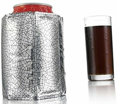 Vacu Vin Rapid Ice Can Cooler Chiller Jacket Sleeve Silver!