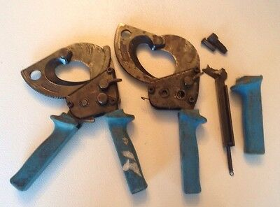 2 Ideal Ratchet Cable Cutters 35 053 Cuts Up To 750 MCM