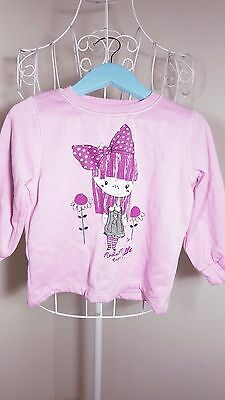 Size 1 Gorgeous Girls Jumper w/ Girl Print! Great Condition!  Bargain Price!